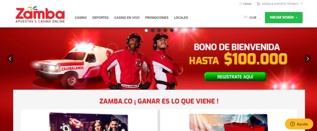 código promocional zamba pagina de inicio
