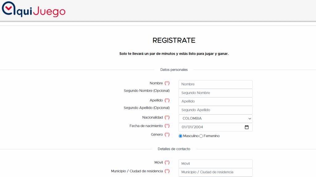 Registro Aquijuego