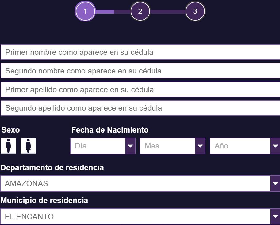 Wplay código promocional. Formulario de registro