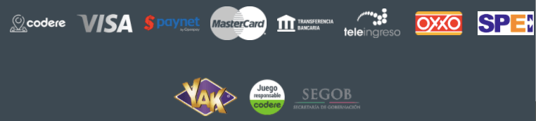 Métodos de pago código promocional México Codere