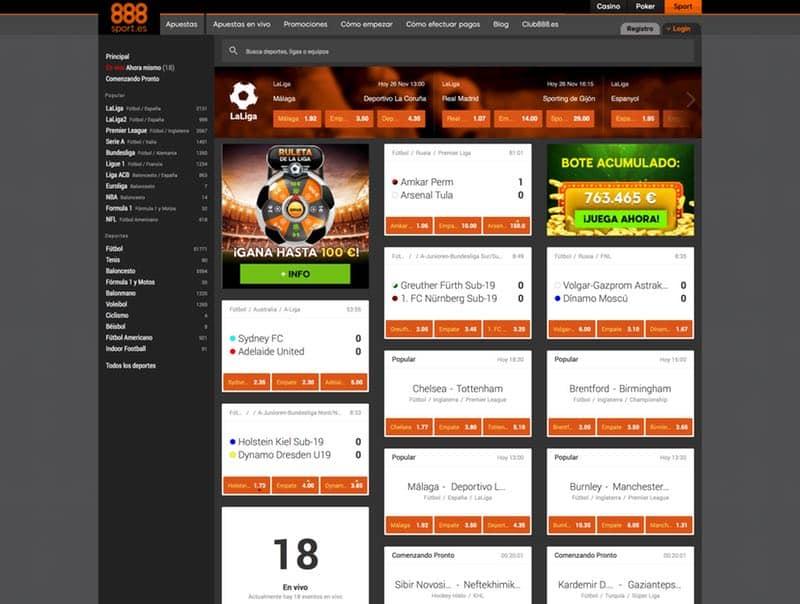 888Sport - Opiniones y Reseña de 888Sport.es
