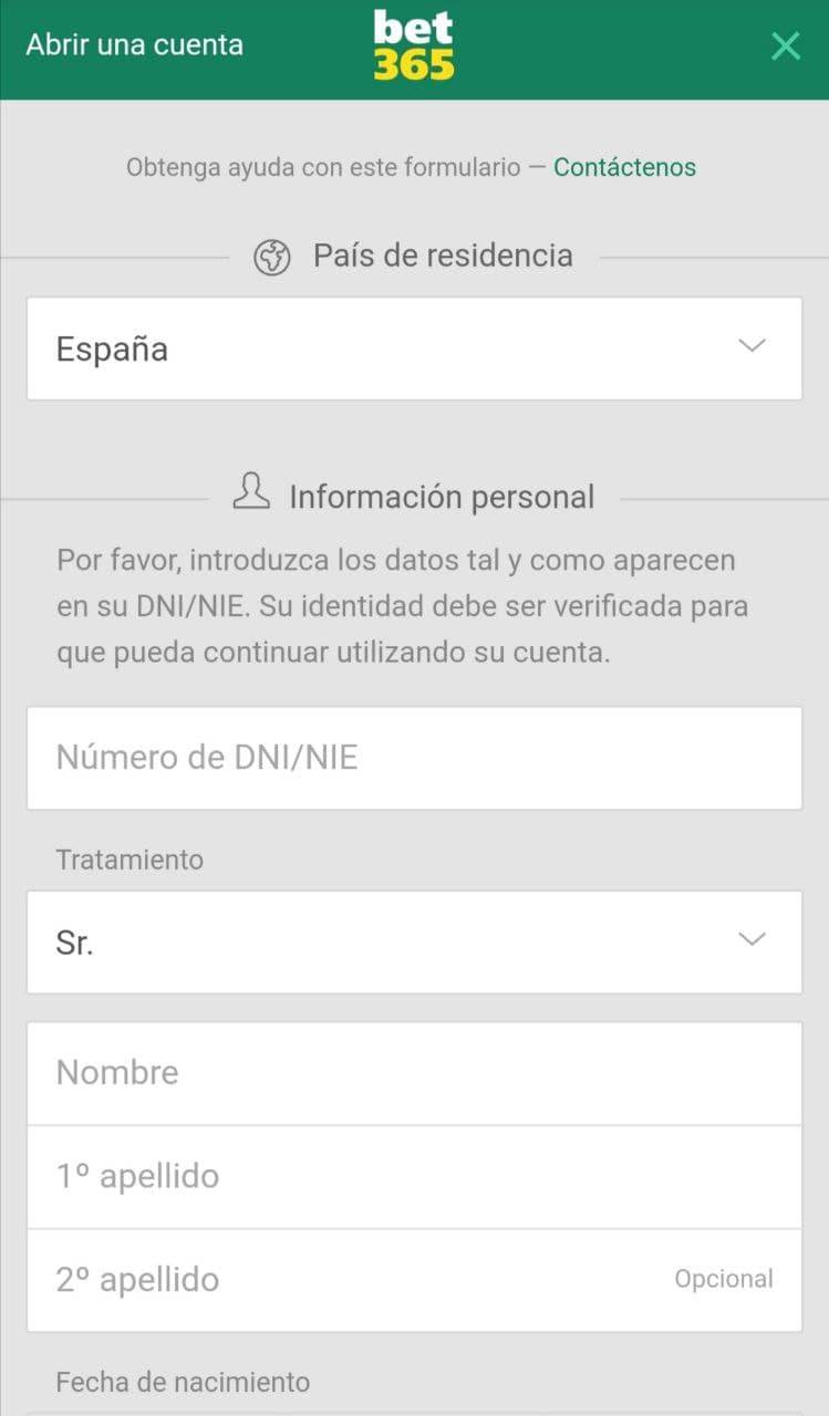 registro bet365 app