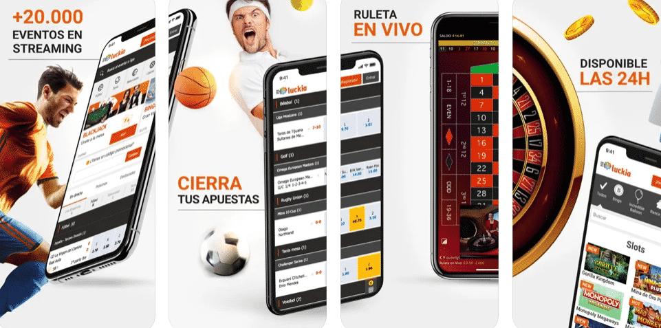 luckia app cosas para apostar